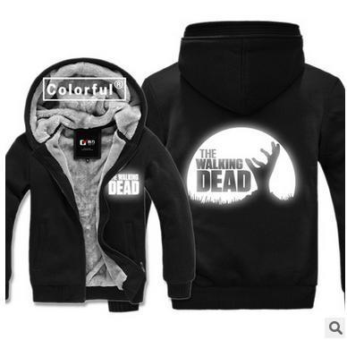 The Walking Dead Daryl Dixon Wing hoodies jacket Luminous Cardigan Hoodies jacket coat