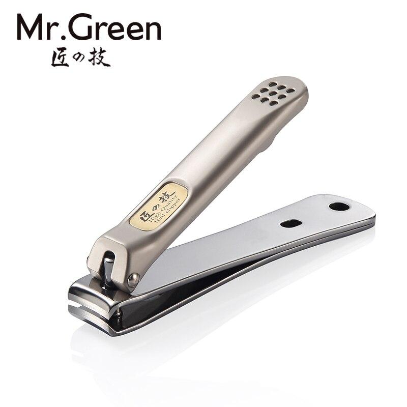 MR. GREEN caliente WorldwideWholesale precio Acero inoxidable Nail Clipper cortador Trimmer manicura pedicura cuidado tijeras alicates de uñas