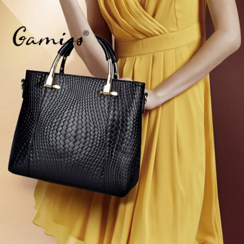 2016 Trendy Embossing and Metal Design Women's Tote Bag Simple Special Beauty