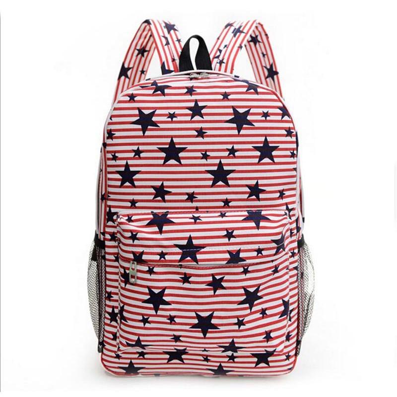 New Summer Fashion Women Printing Backpacks The Star Pattern Stduents  Backpack Mochila Unisex Travel Backpack School Bag BP fcf81d28fc