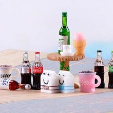 Набор из 13 предметов сказочных садовых принадлежностей миниатюрный маленький стол+ напиток+ молоко., Мини Сад Крошечные украшения суккулент Террариум DIY