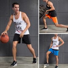 Men s Sports Set Tanks and Knee length Shorts for Basketball Running Joggers Gym Fitness Suits