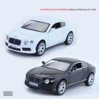 Hot 1 36 Scale Wheels Diecast Sports Cars Bentleys Continental GT V8 Metal Model Pull Back