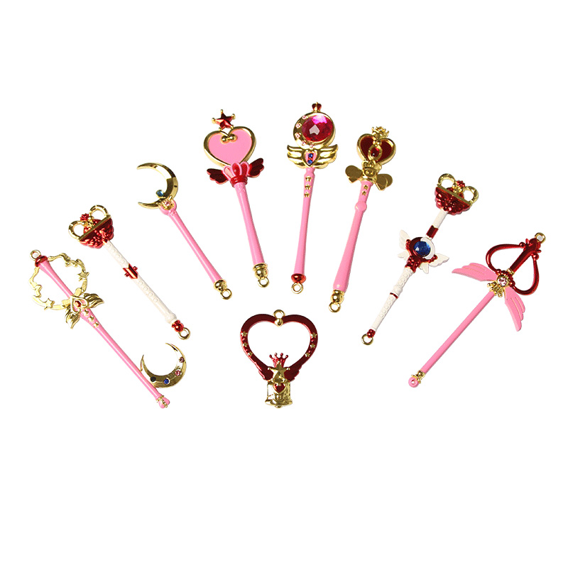Sailor Moon collection cosplay CARDCAPTOR SAKURA 9pcs Key Ring Holder keychain Gift Chaveiro Car  Pendant Anime figure gift all characters tracer reaper widowmaker action figure ow game keychain pendant key accessories ltx1