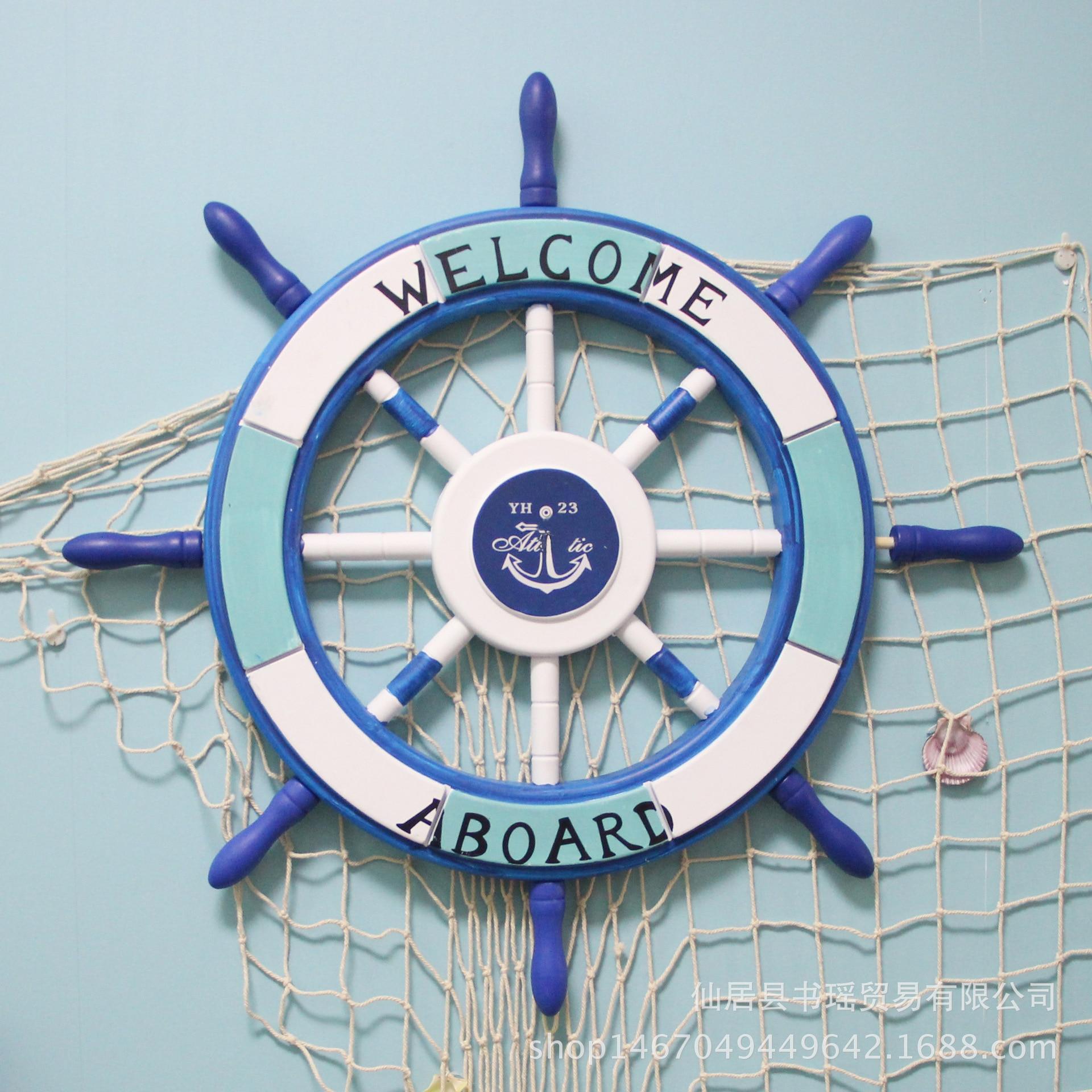 Méditerranée 62 cm navire volant volant décoration murale peut être accroché comme ancien bois massif décoration murale bois