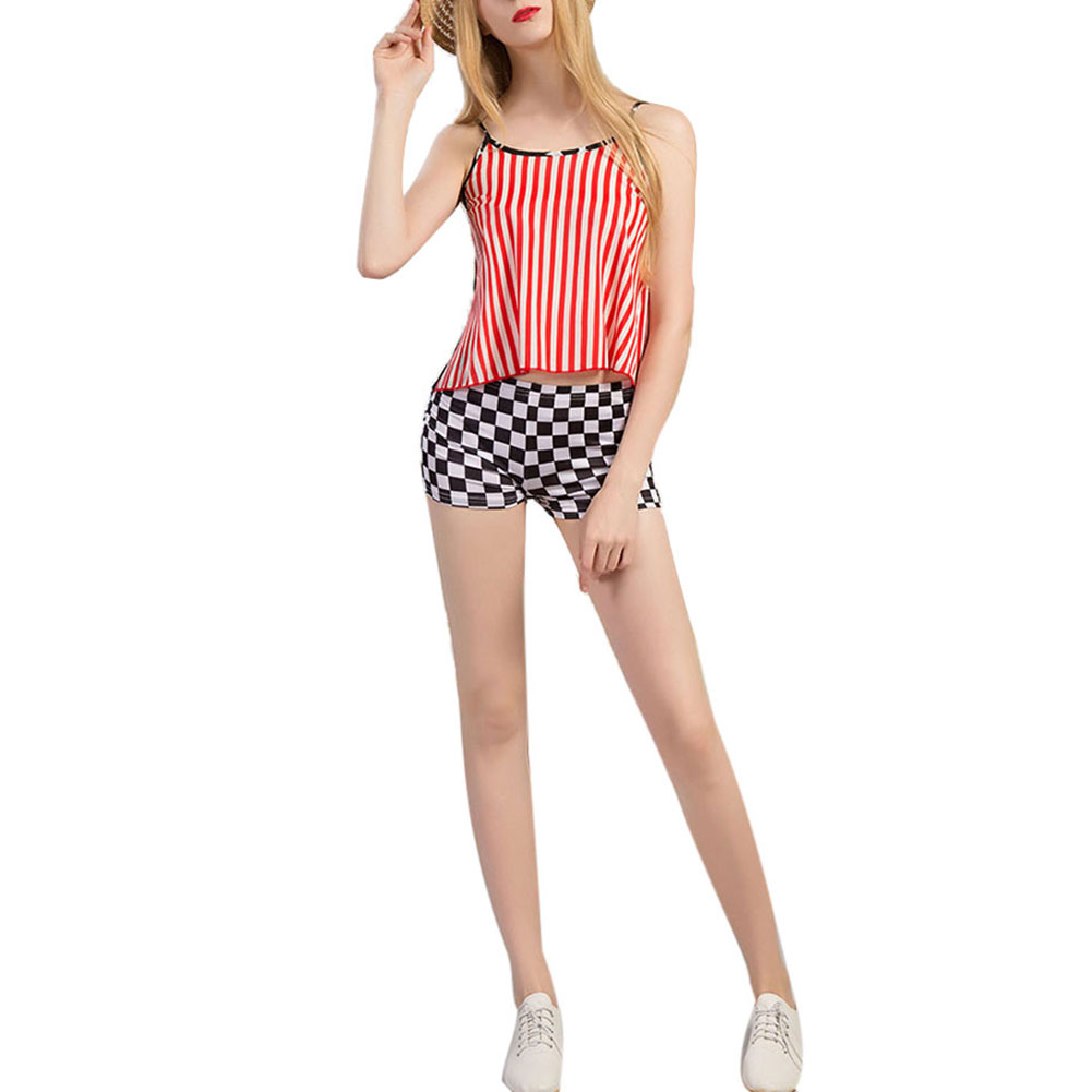 New Arrival Women Summer Chiffon Tank Tops Young Girl American Flag Printed Sleeveless Blouse Tank Top