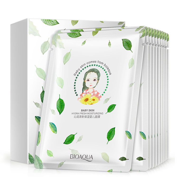 Bioaqua Fresh Moisturizing Baby Mask Moisturizing Whitening Moisturizing Oil Control Moisturizing Tablet Mask Facial Care Face