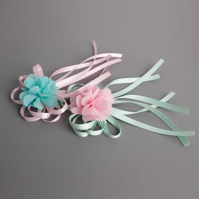 Korea Princess Hair Clips Girls Hair Accessories Flower Crown Hair Bows Hair Ornaments Rim Hairpin Kids Gift -5