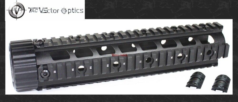 Vecteur optique AR15 M4 M16 223 5.56 libre flottant main garde mi longueur Quad Rail système de montage avec des couvertures en caoutchouc noir