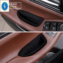 Yimaautotrims Front Car Door Storage Pallet Armrest Container Box Cover Trim 2 Model Fit For Infiniti QX30 2017 2018 2019