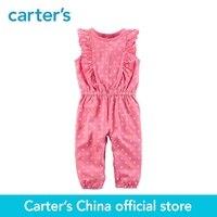 Carter's/1 из 2 предметов для маленьких детей детская одежда девушка весна и лето флаттер Цветочный горошек комбинезон 118H956