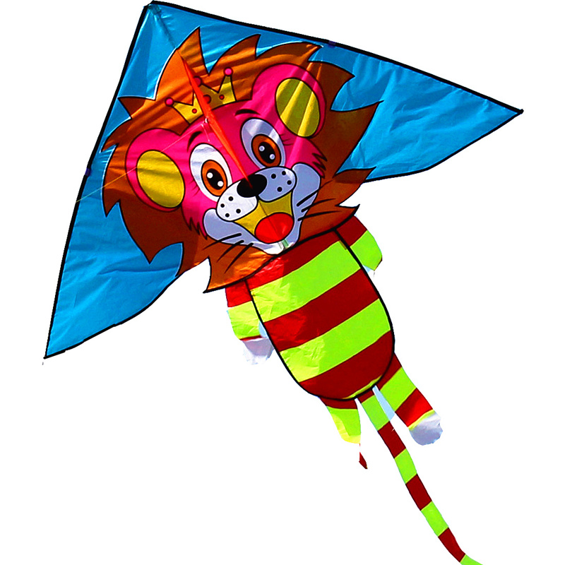 New Arrive Outdoor Fun Sports 79 inch Lion Kite /Animal Kites With Handle And Line For Kids Gifts Good Flying