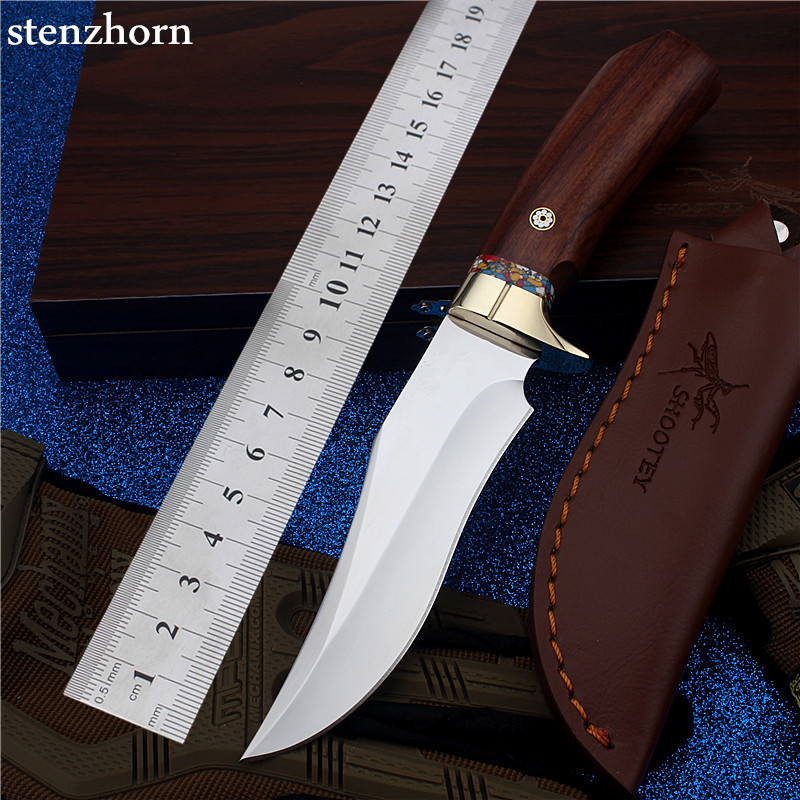 Stenzhorn outdoor camping with small straight cutting tool self-defense wilderness survival mountain high hardness Steel knife