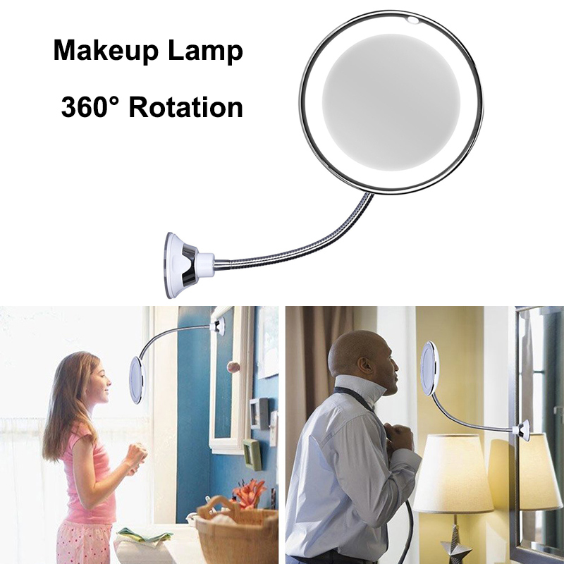 2019 360 Degree Swivel Rotation Makeup Lamp Flexible Gooseneck Makeup Mirror with Suction2019 360 Degree Swivel Rotation Makeup Lamp Flexible Gooseneck Makeup Mirror with Suction