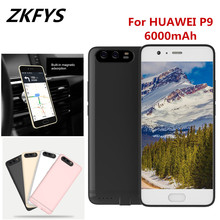 ZKFYS 6000mAh Portable Battery Charger Case Power Bank Charging Cover  For HUAWEI P9 Fast Box Back Clip