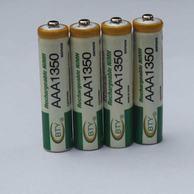 4pcs AAA 350mAh Free shipping High Quanlity 1.2V 350mAh AAA Battery Ni-MH Rechargeable Battery 1.2V Battery