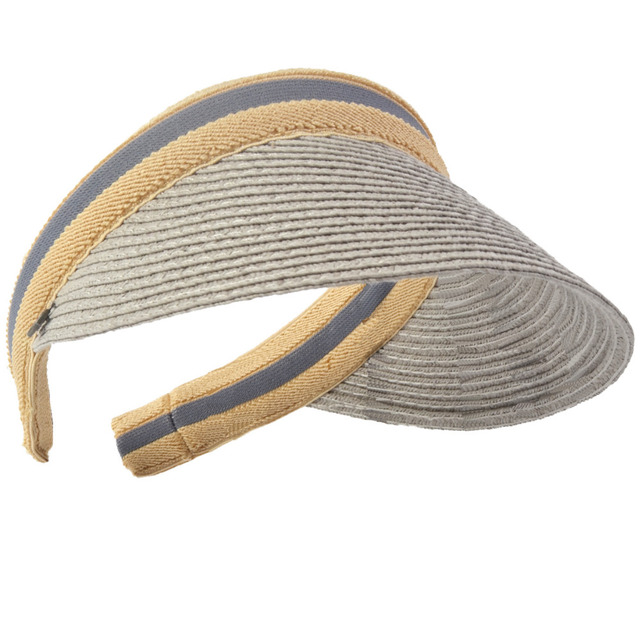 e2e1e5e5fe655 HISSHE Sun Shade Straw Visor Golf Hat New Arrivals Fashion Empty Top Hat  Sun Hats Solar Protection Visor Hat