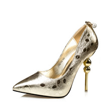 New 2017 Pointed Toe Dot Sexy Shoes Woman High Heels Rhinestone Wedding Shoes Women Pumps