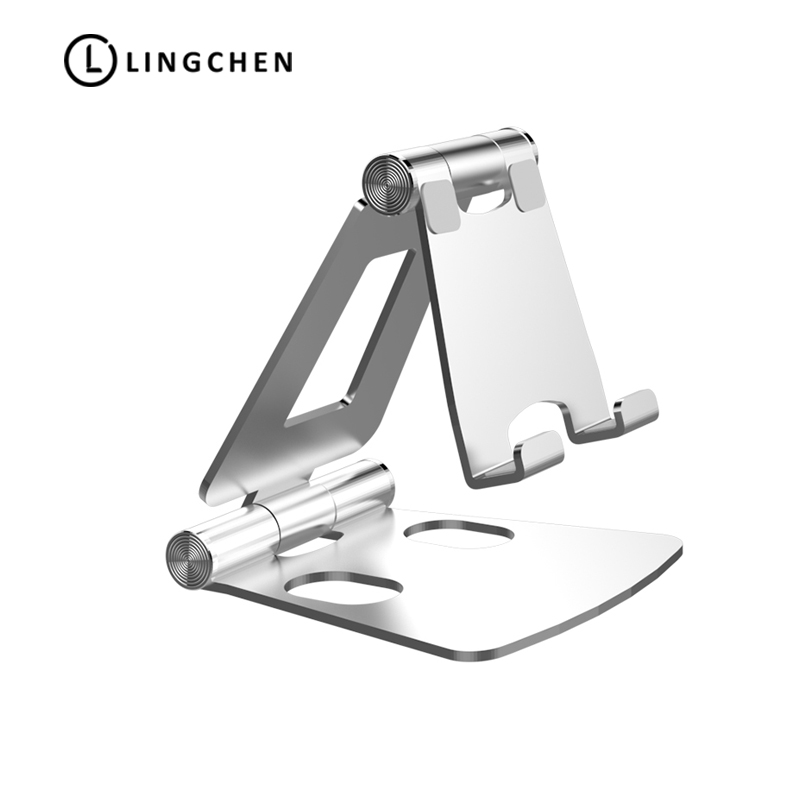 LINGCHEN Metal Phone Holder For iPhone 7 8 X XS Max Foldable Mobile Phone Holder Stand Universal Phone Stand Tablet Holder AlloyLINGCHEN Metal Phone Holder For iPhone 7 8 X XS Max Foldable Mobile Phone Holder Stand Universal Phone Stand Tablet Holder Alloy