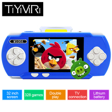 Mini Child Classic Video Game Player Portable 3.2 inch Color PVP Handheld Game Player Built-in 328 Game Kid Games Console