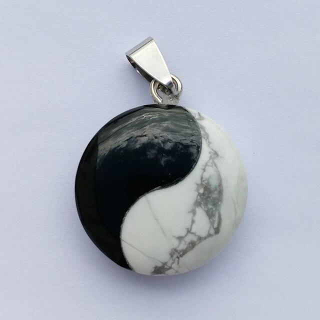 Wholesale 1pcs fashion tai ji chi yin yang stone pendants charm wholesale 1pcs fashion tai ji chi yin yang stone pendants charm pendants hot selling natural stone aloadofball Images