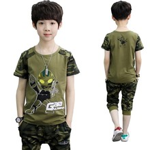Camouflage Altman Kid Clothes Cotton Short Sleeve T Shirt Calf-pants  Summer Children Outfits Boys Clothes Girls Sets Clothing цена 2017