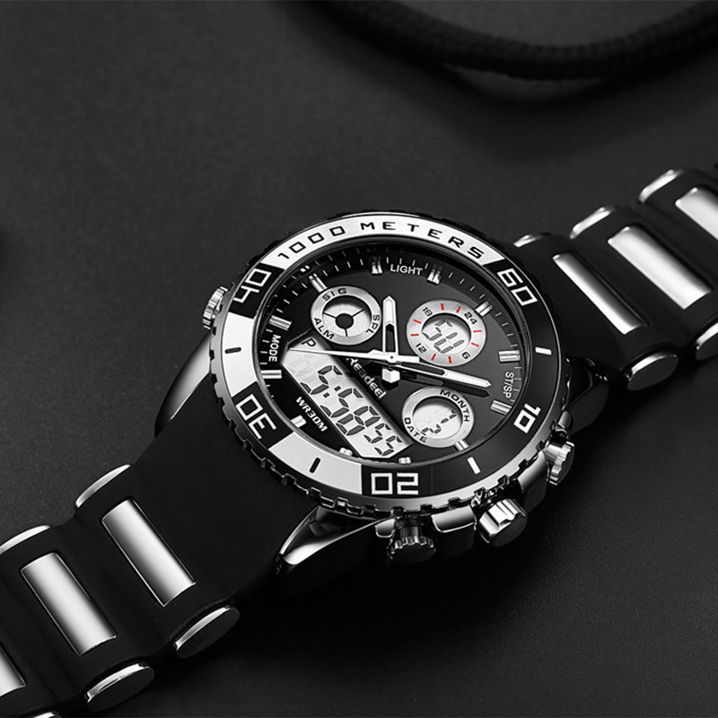Image 5 - Men Sports Watches Waterproof Mens Military Digital Quartz Watch Alarm Stopwatch Dual Time Zones Brand New relogios masculinos-in Quartz Watches from Watches