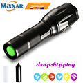 Handheld LED Tactical Flashlight Zoomable Adjustable Focus 5 Mode Water Resistant Torch Light for Drop Shipping NO Battery