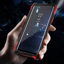 Per Samsung galaxy note copertura della cassa 9 cassa del respingente di Alluminio Del Metallo Antiurto proteggere Per Samsung Note8 s9 s8 casi Heavy Duty
