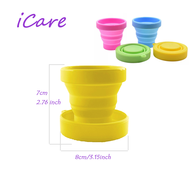 30 Pieces Sterilizer Menstrual Cup Soft Water Silicone Cups Retractable Folding Gargle Cup For Outdoor Travel Drinkware Tool
