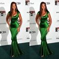 Beyonce Tapete Vermelho Vestidos de Celebridades 2017 Sexy da Luva do Tampão Da Sereia Partido Prom vestido Verde Vestido de Noite Vestido de festa