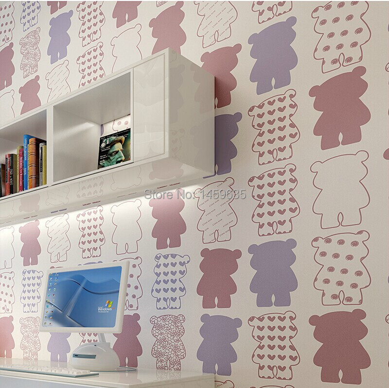 Nonwoven Wallpaper Teddy Bear Childrenu0027s Room Modern Minimalist Bedroom  Wallpaper Shop For Living Room Backdrop In Wallpapers From Home Improvement  On ...