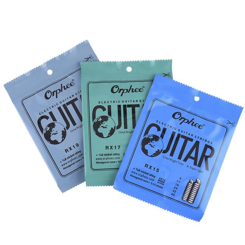 6pcs Full Set Electric Guitar Strings Guitarra Part Replacement Feel Moderate Hexagonal Carbon Steel Phosphor Bronze Durablel