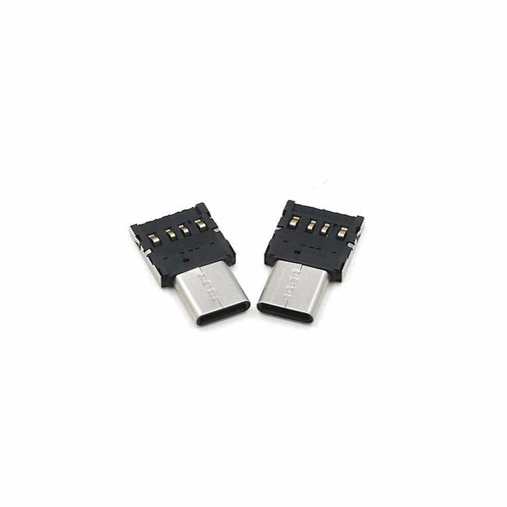 Ascromy Mi Cro USB untuk Tipe C Male Adaptor untuk Xiao Mi Mi 8 Red Mi Note 7 Huawei p20 Lite OnePlus 6 Samsung S8 Plus S9 Catatan 9