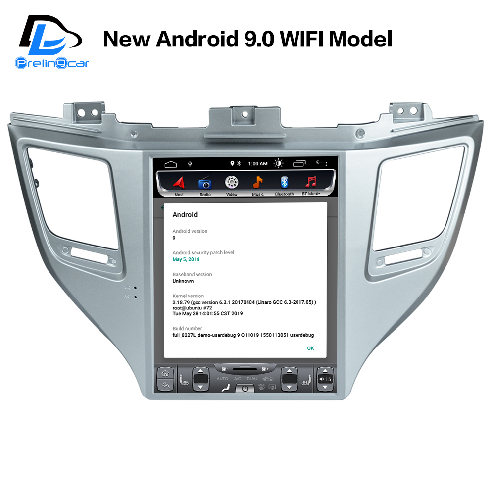 US $215 76 13% OFF|32G ROM Vertical screen android 9 0 car gps multimedia  video radio player dash for hyundai new Tucson 2016 YEARS car navigaton-in