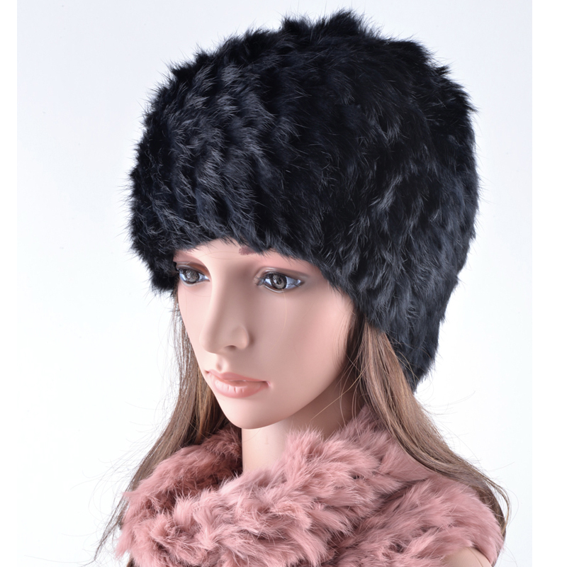 Hohe qualität winter hüte für frauen echt kaninchen pelz schal hut ...