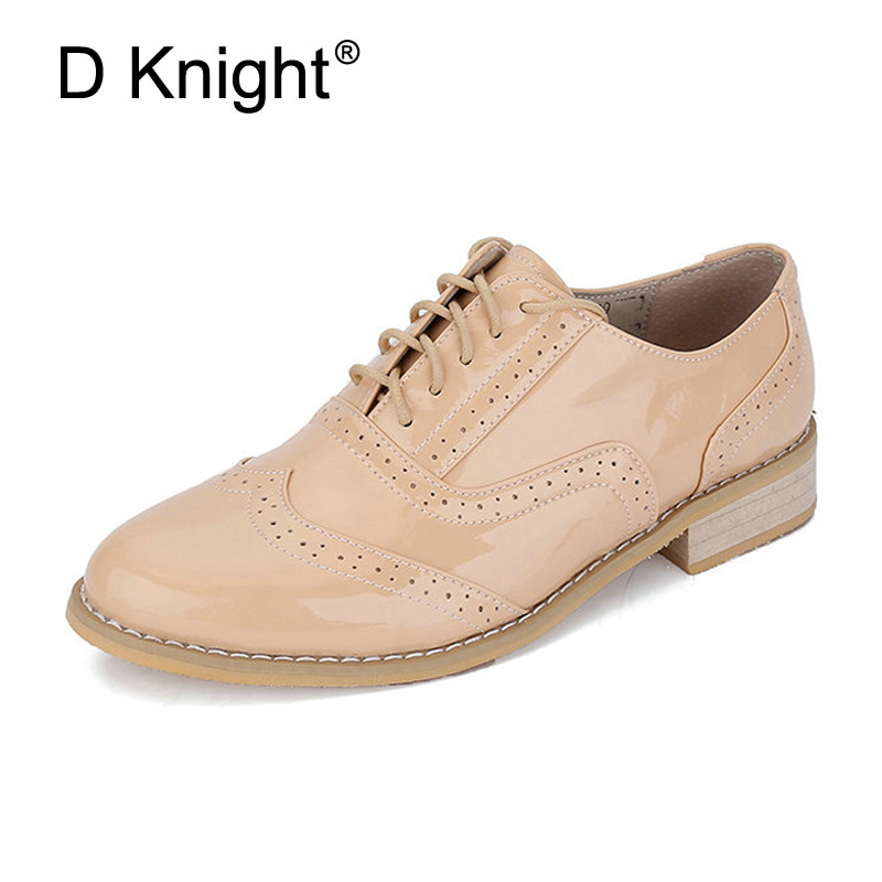 Women Quality Flats Genuine Leather Lace-up Oxford Shoes For Women Spring Autumn Handmade Size 32-43 Casual Brogues Ladies Shoes xiuteng 2018 spring genuine leather women candy color flats soft rubber sole ladies casual high quality beach walking shoes
