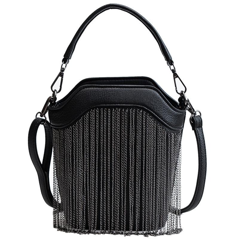 GYKAEO 2018 Winter Female Tassel Bucket Small Shoulder Bag Korean Style Fashion Shopping Women Messenger Bag Ladies Tote Bags 6