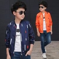 Vertical Stripes Autumn Spring Kids Jacket Boys Outerwear Coats Korean Sport Suit For Children Clothes