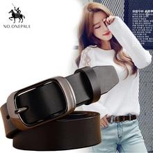 NO.ONEPAUL Fashion Retro women belt Belts for female Lady  Metal Leather Double Buckle Waist Belt Waistband high quality