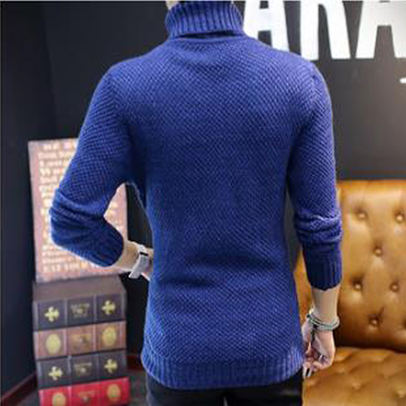 2018 spring autumn sweater men Korean version solid color pullover men sweater warm full turtleneck oodji sweater pull homme in Pullovers from Men 39 s Clothing