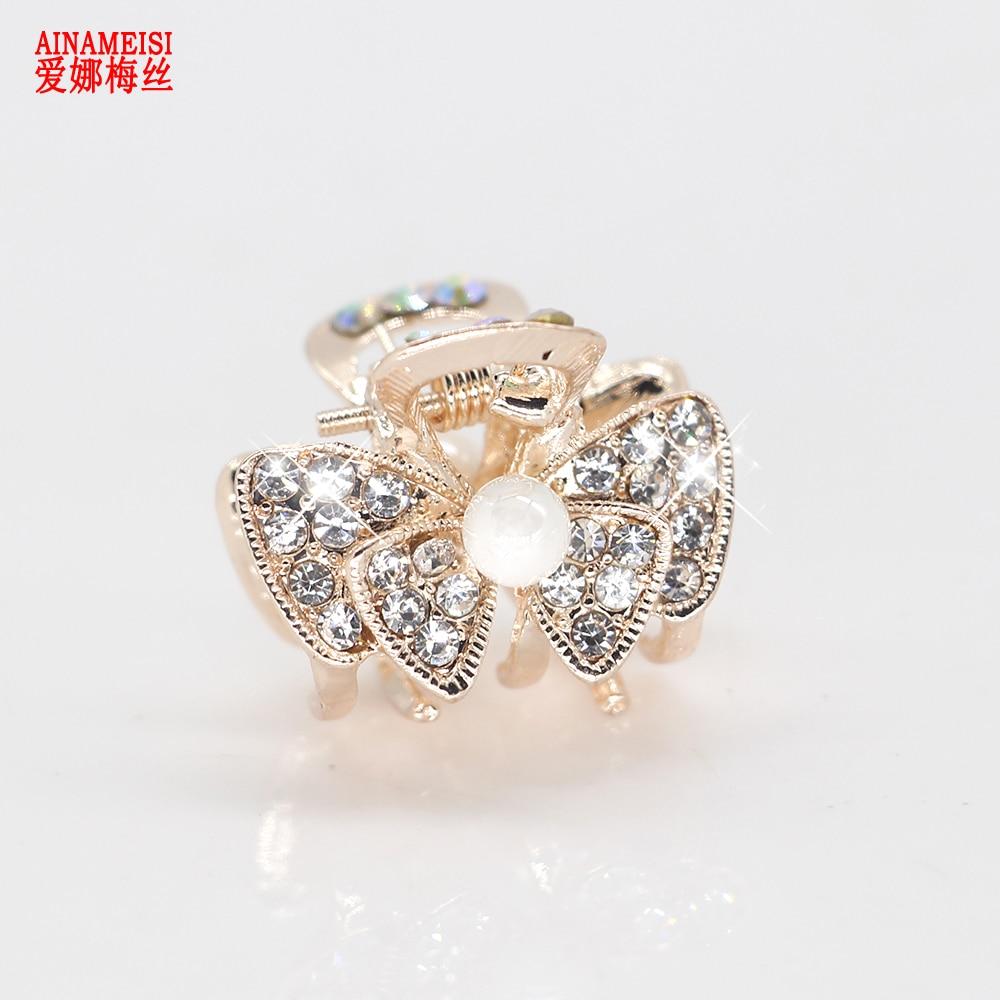 AINAMEISI Mini Hair Crab Claw Clip Hair Jewelry For Women Girls Flower Crystal pearl Hairpins Barrettes Hair Clips Headwear