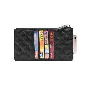 Image 4 - Nuove donne dei raccoglitori di lusso portafogli di marca del progettista della borsa Del Cuoio Genuino Sottile Sottile Portafogli E Portamonete di pelle di Pecora Femminile Portafoglio Mobile