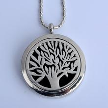 10 pcs/LOT  Tree  (30mm) Aromatherapy Perfume Diffuser Floating Locket Necklace For Best Gift