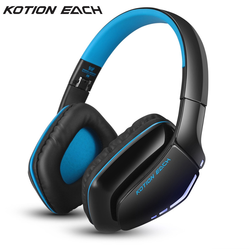 Hige quality KOTION EACH B3506 Wireless Bluetooth4.1 Stereo Gaming Headphone Headset Foldable Mic Headphone for PC Computer цена