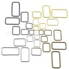 10 шт./упак. металлической проволоки формируется прямоугольник кольцо Металлическое кольцо пояса петли Лента слайдер горный хрусталь с ремешком и пряжкой бюстгальтер крюка посылка аксессуары