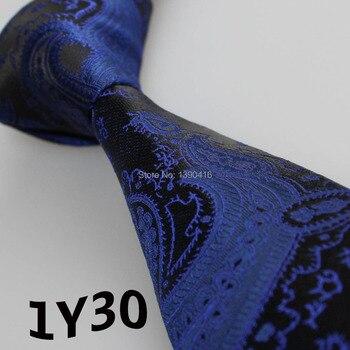 XINCAI 2018 wysokiej jakości człowieka krawat 7 cm skinny tkane krawaty suknia ślubna Paisley Party biznes formalne krawaty dla mężczyźni