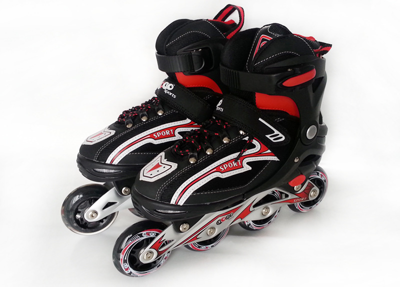цена  1 Pair Adult Teenagers Ice Skate Roller Skating Shoes  Adjustable Washable PU wheels Large Size  онлайн в 2017 году