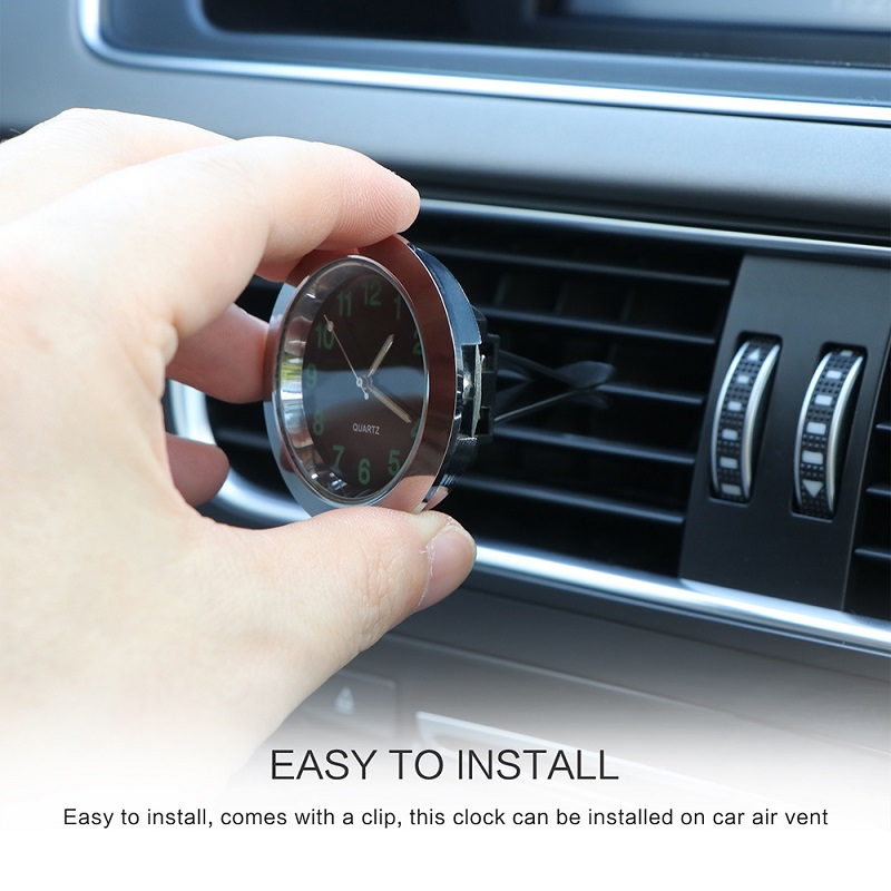 Image 5 - Car Luminous Gauge Clock with clip Auto Air Vent Quartz Clock Beautiful and practical electronic watch styling for benz bmw-in Convertible Accessoires from Automobiles & Motorcycles