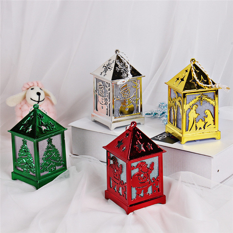 Christmas Decorations For Home LED Light Dolls House Villa Xmas Ornaments Hanging Christmas Tree Hanging Decor Navidad 40DC603